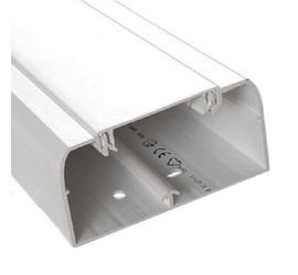 Кабель-канал DLP 50x105 с гибкой крышкой 65мм белый