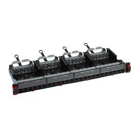 """Патч-панель 24хRJ45 UTP кат.5Е 19"""" 1U с органайзером и механизмом быстрой фиксации (укомплектованная)"""